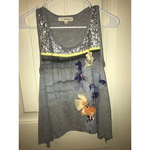 Sequined/Floral tank